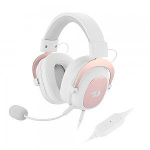 headset redragon zeus sakura edition usb ou entrada de audio de 3 5mm 7 1 surround branco e rose gold h510w 1598541582 gg