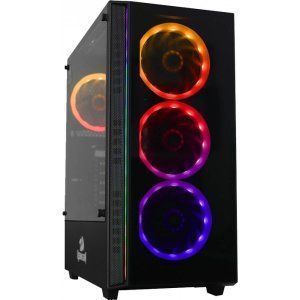 gabinete gamer redragon grapple mid tower s fan vidro temperado black s fonte gc 607 bk 107502