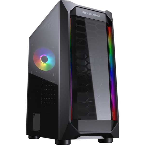 11083571167 gabinete gamer cougar mx410 t mid tower s fan vidro temperado s fonte 97821 2